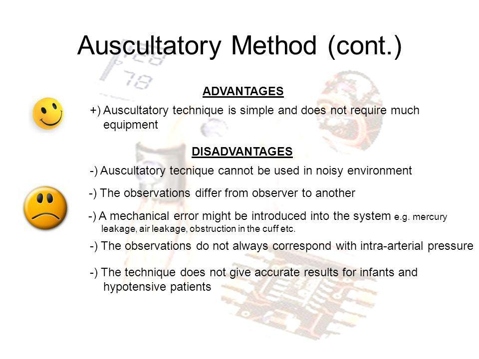Auscultatory Method (cont.)