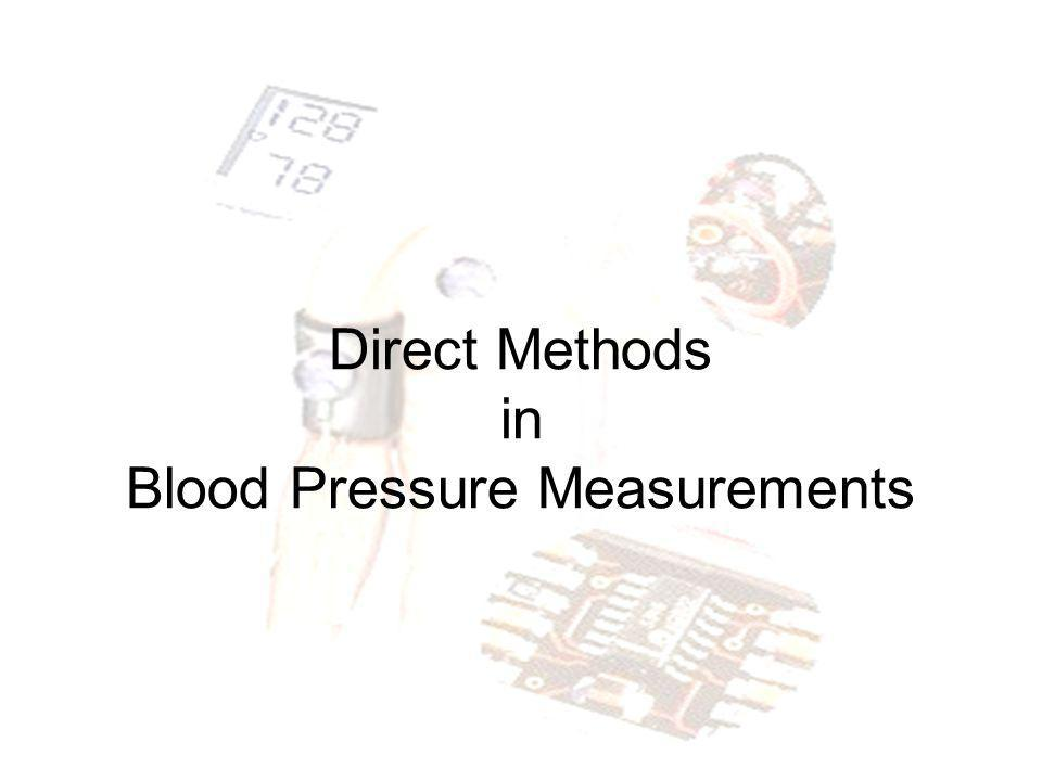 Direct Methods in Blood Pressure Measurements