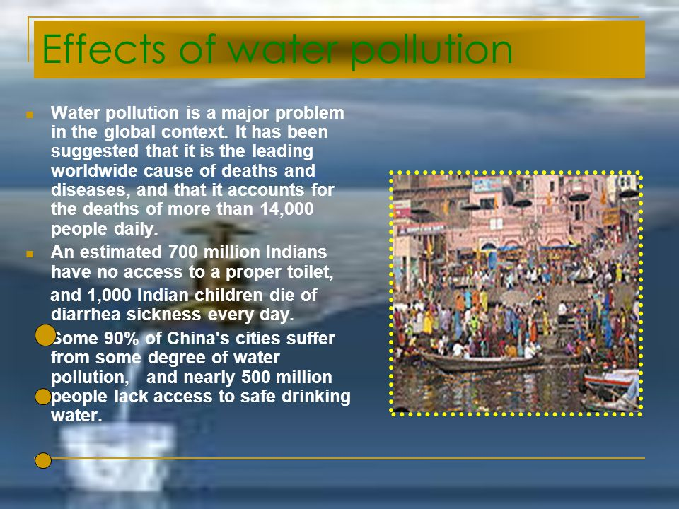 Effects of water pollution
