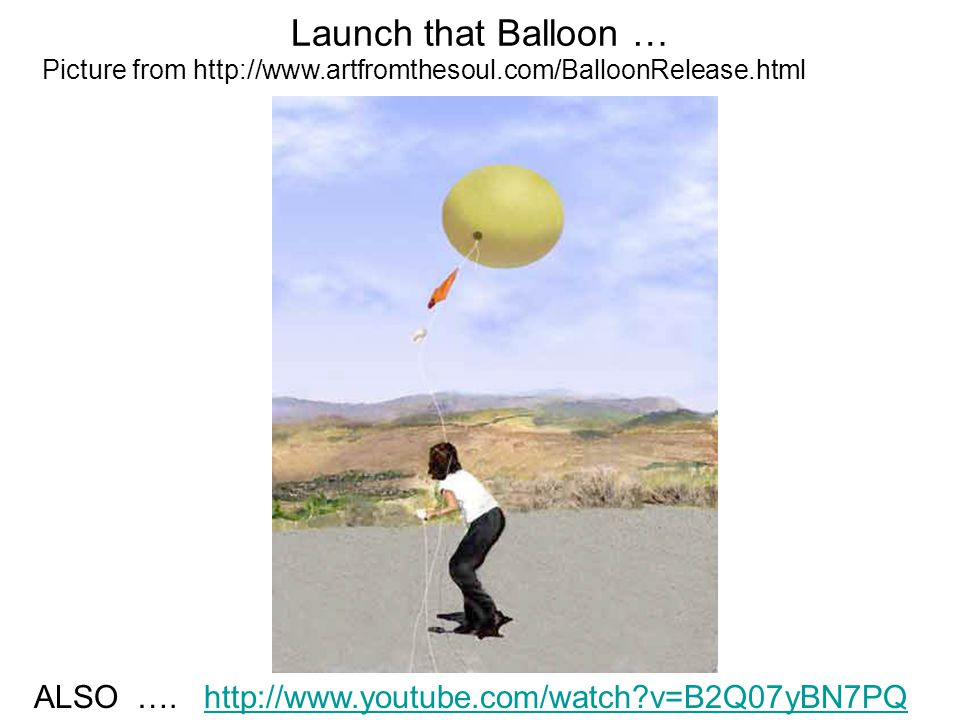 Launch that Balloon … Picture from http://www.artfromthesoul.com/BalloonRelease.html.