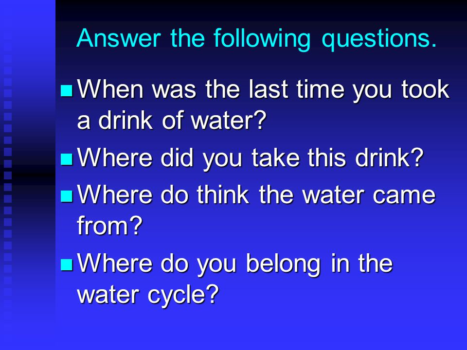 Answer the following questions.