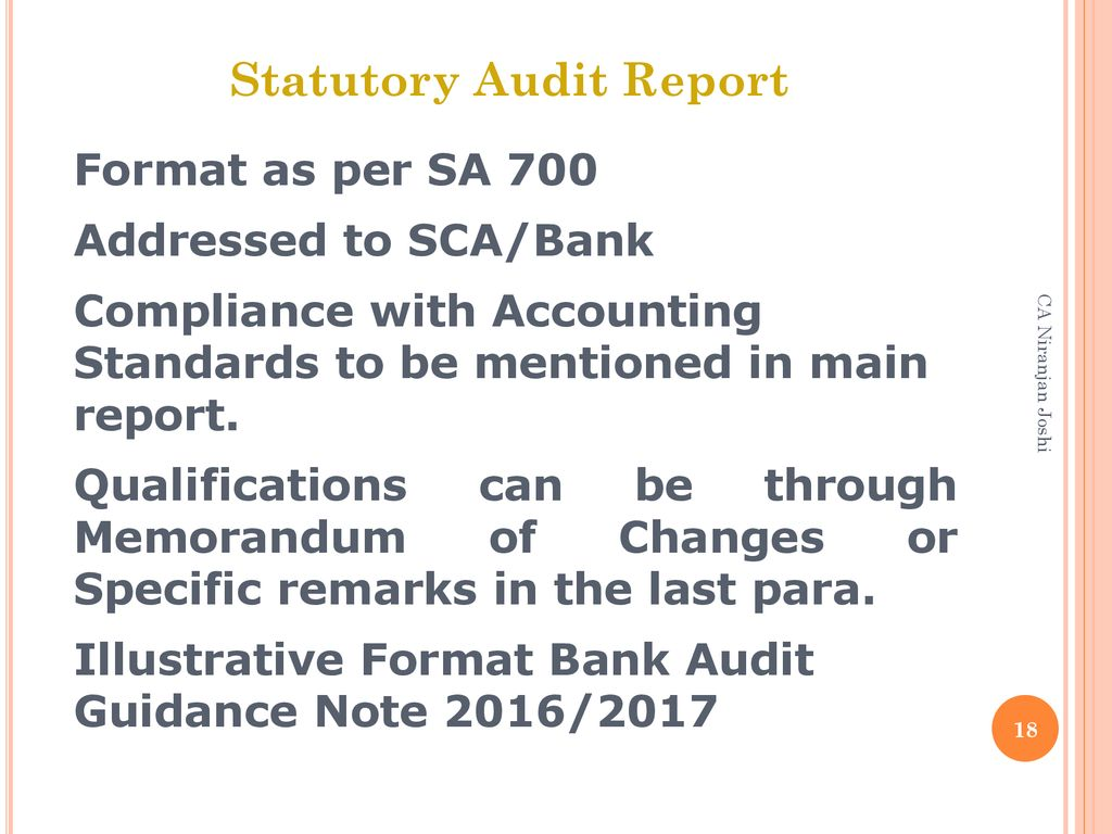 Overview of Bank Branch Audit (Planning, Reporting, Certificates