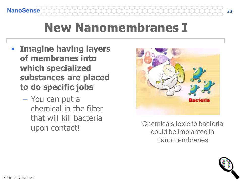 Chemicals toxic to bacteria could be implanted in nanomembranes