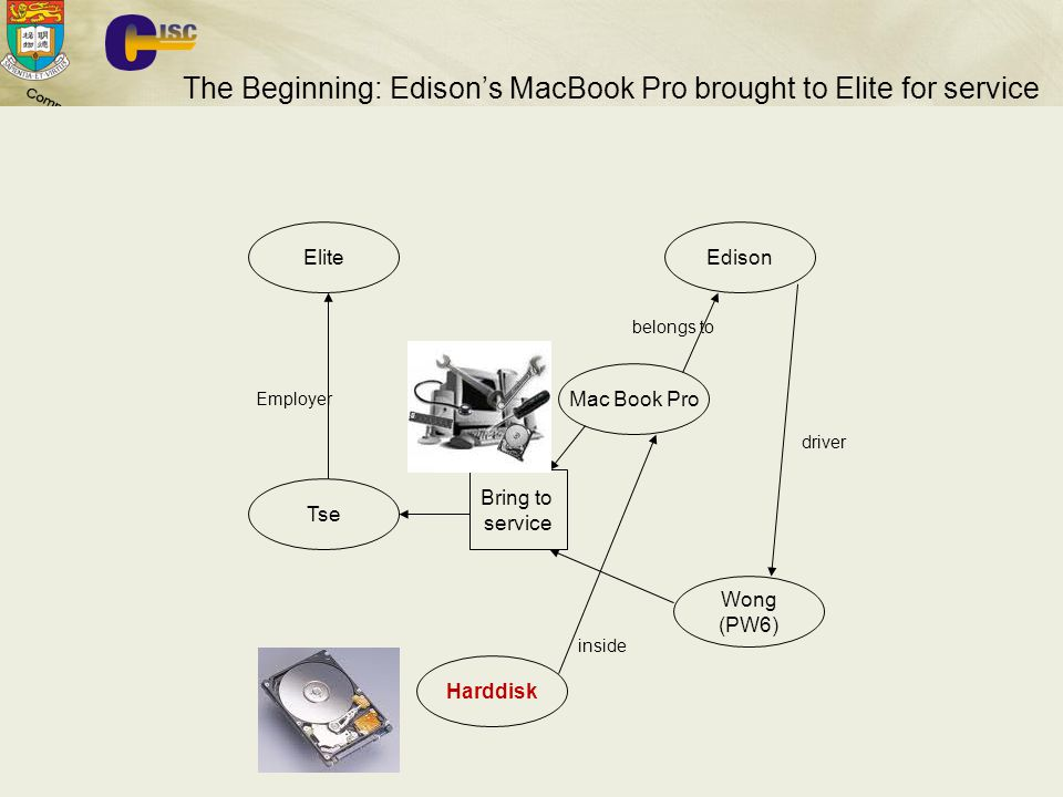 The Beginning: Edison's MacBook Pro brought to Elite for service