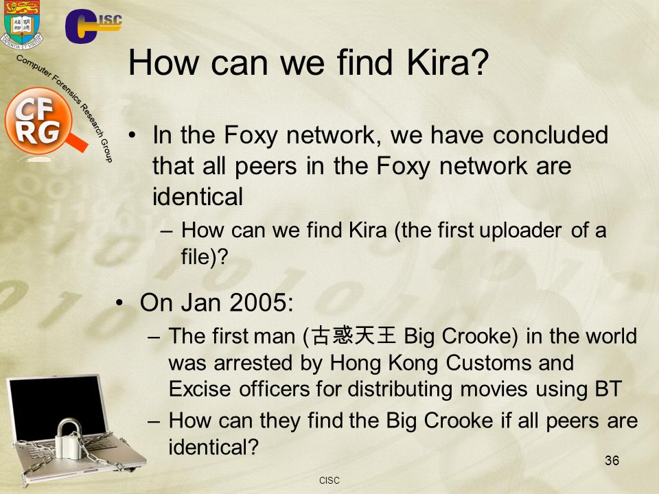 How can we find Kira In the Foxy network, we have concluded that all peers in the Foxy network are identical.