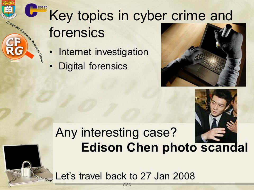 Key topics in cyber crime and forensics