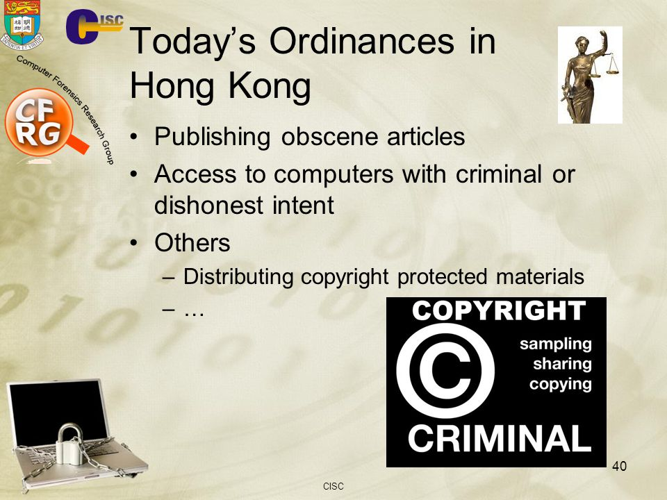 Today's Ordinances in Hong Kong