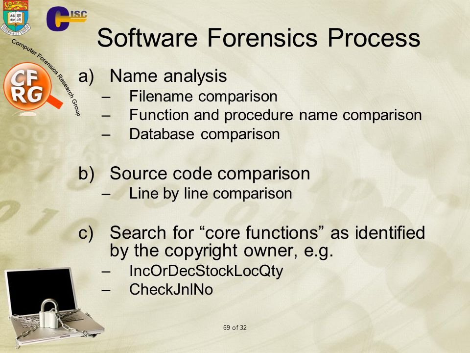 Software Forensics Process