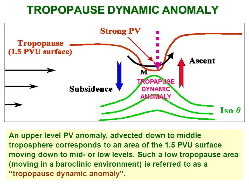 TROPOPAUSE DYNAMIC ANOMALY
