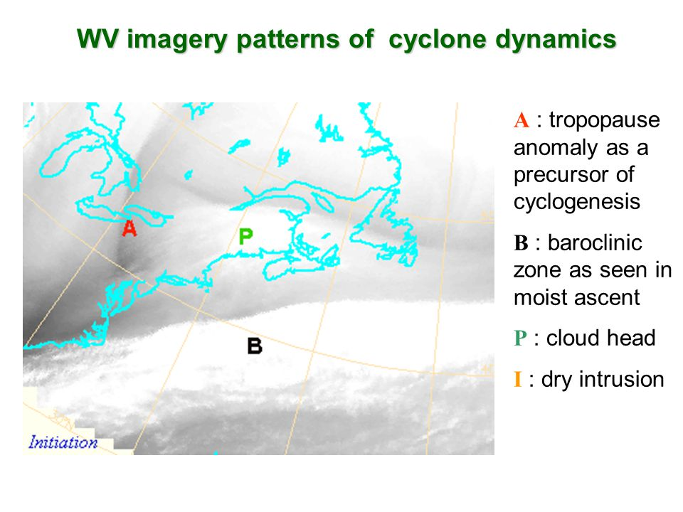 WV imagery patterns of cyclone dynamics