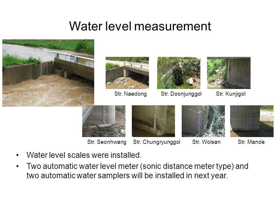 Water level measurement
