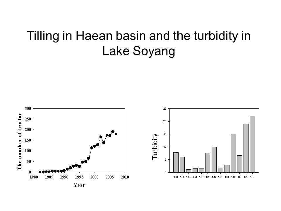 Tilling in Haean basin and the turbidity in Lake Soyang