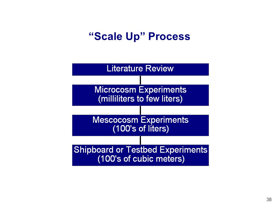 Scale Up Process UW Ballast Water