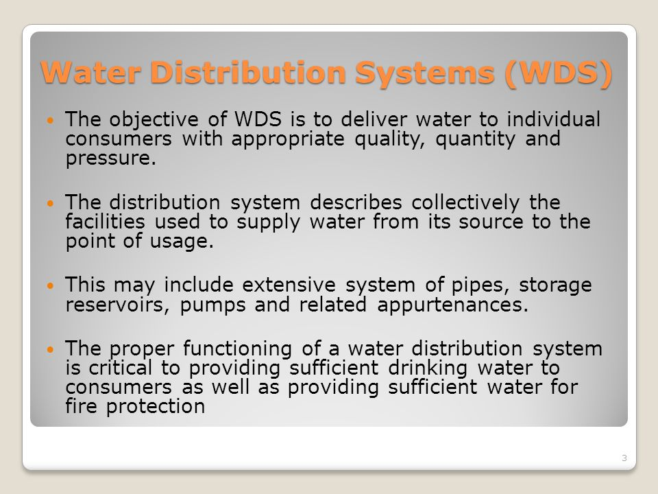 Water Distribution Systems (WDS)