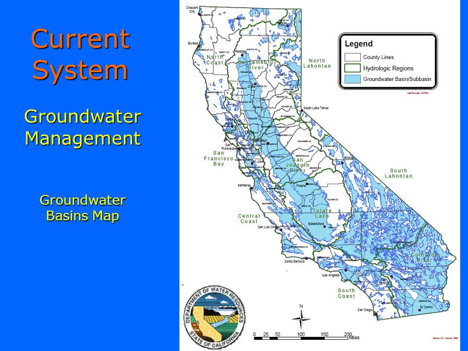 Groundwater Management Groundwater Basins Map