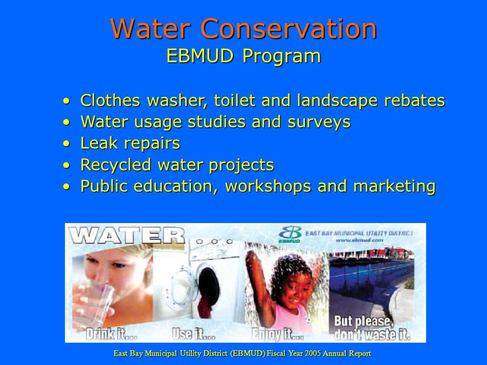 Water Conservation EBMUD Program