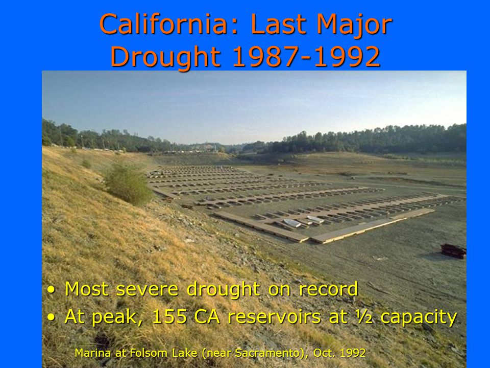 California: Last Major Drought 1987-1992