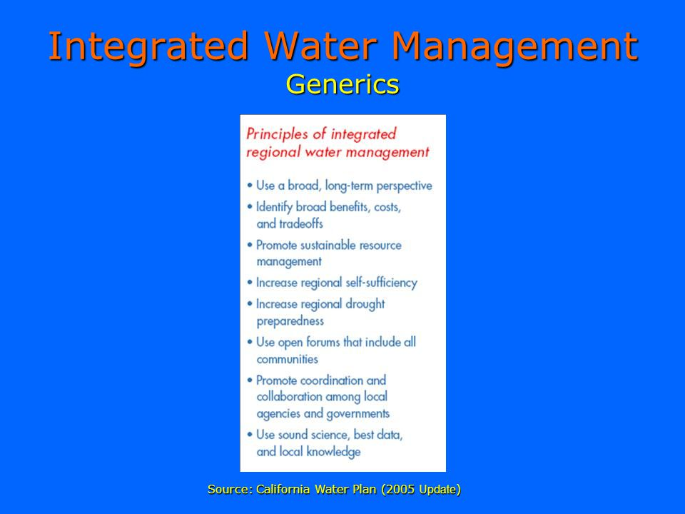 Integrated Water Management Generics