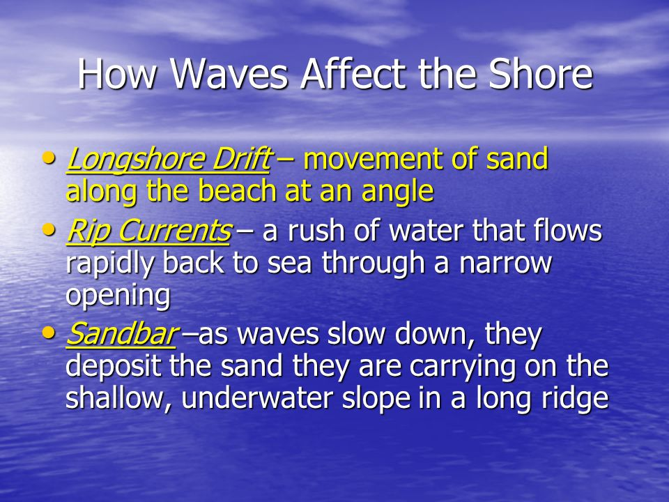 How Waves Affect the Shore