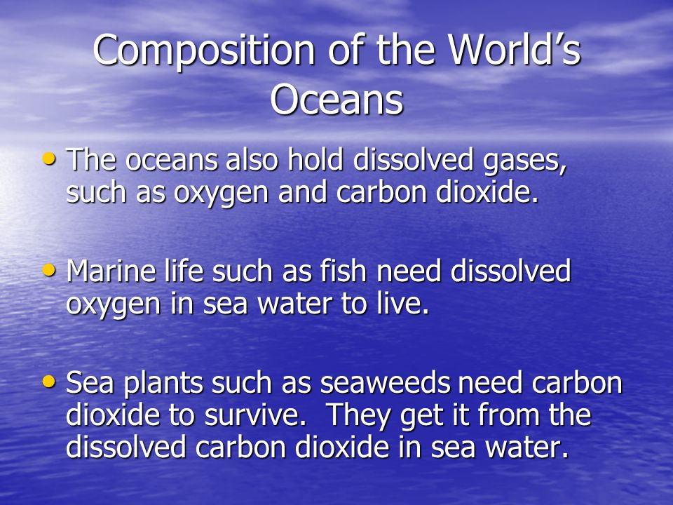 Composition of the World's Oceans
