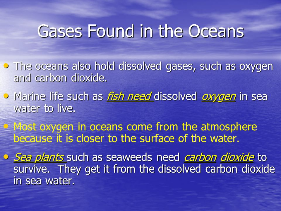 Gases Found in the Oceans