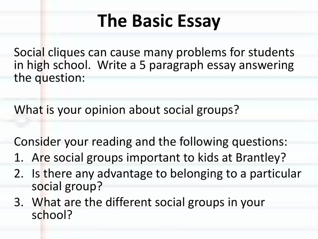 Abraham Lincoln Essays  Definition Essay Paper also A Student Life Essay The Basic Essay Social Cliques Can Cause Many Problems For  Persuasive Essay Guidelines