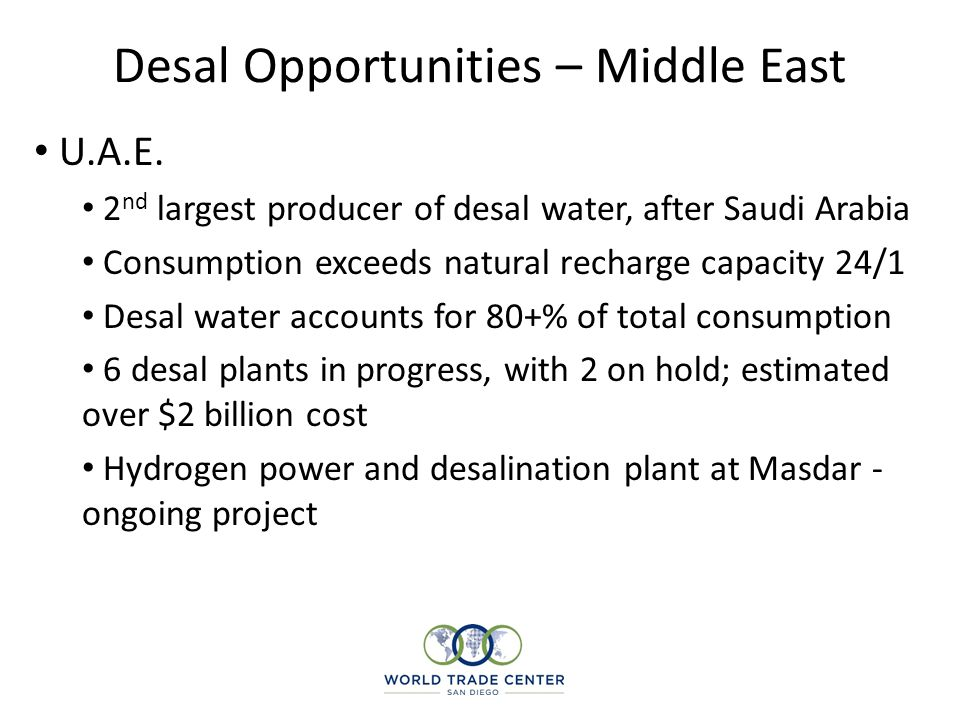 Desal Opportunities – Middle East