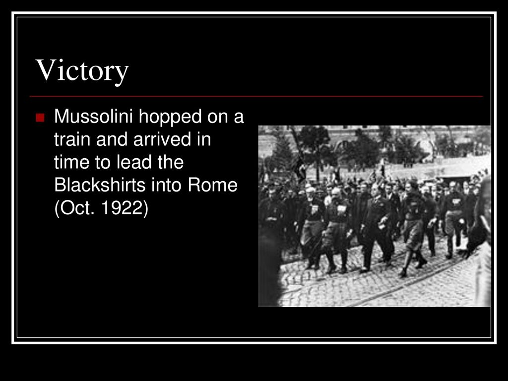 Italy Under Mussolini Ppt Download