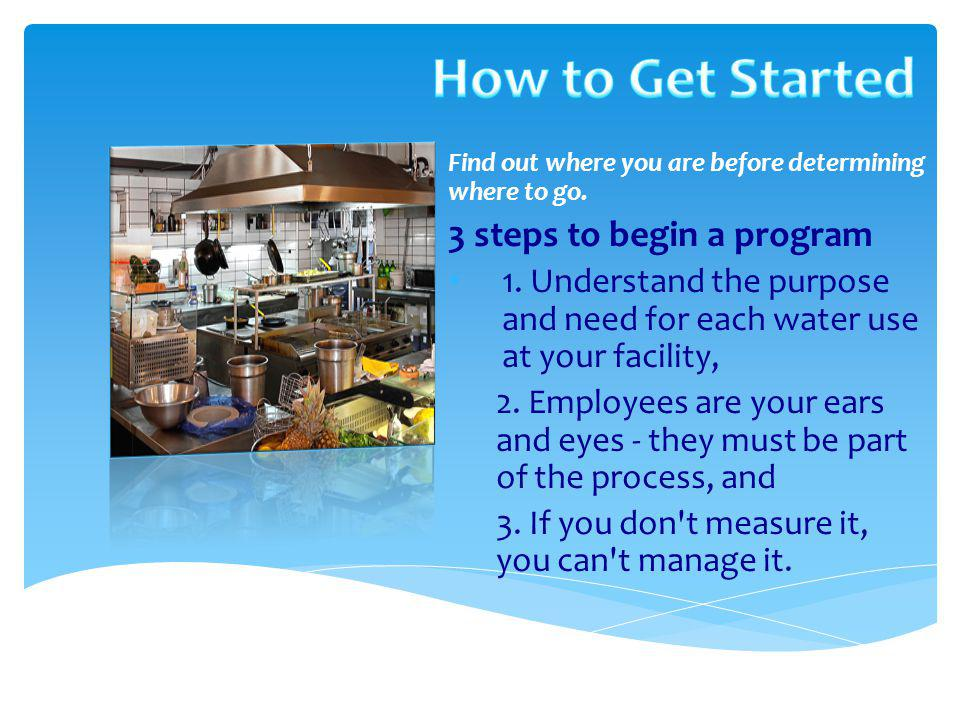 How to Get Started 3 steps to begin a program