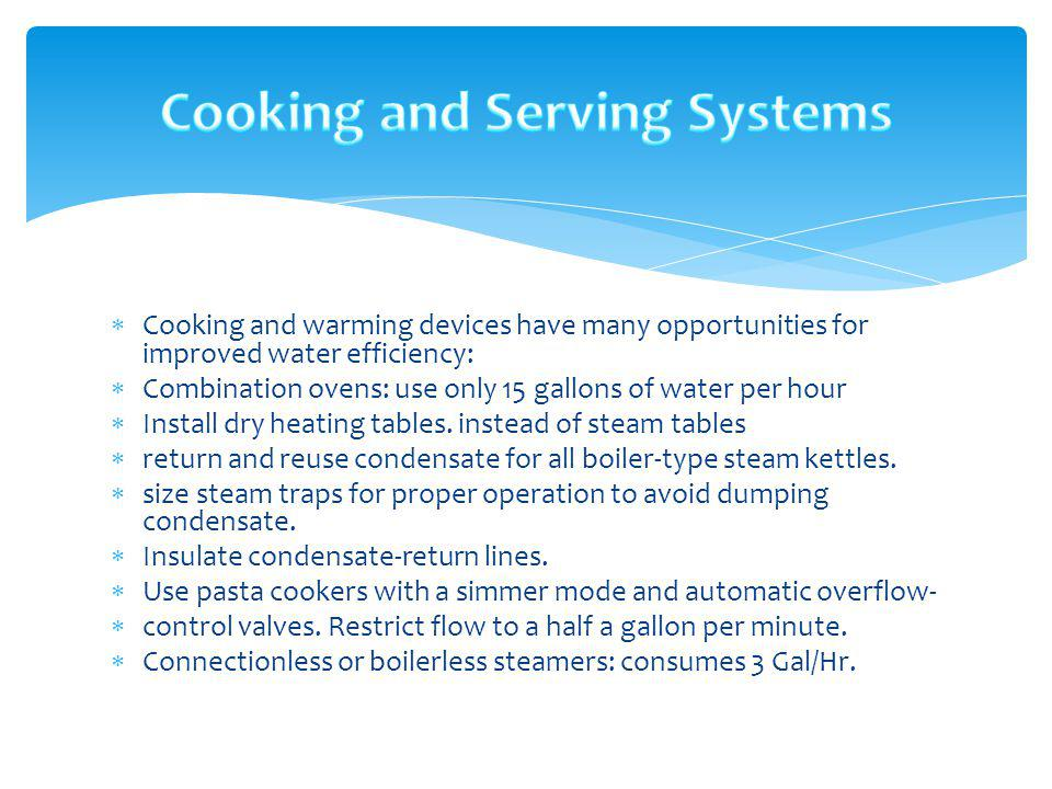 Cooking and Serving Systems