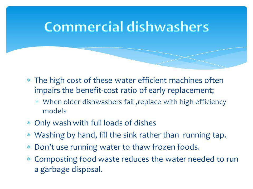 Commercial dishwashers