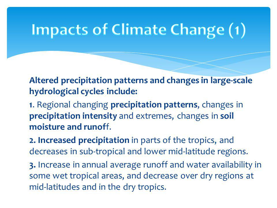 Impacts of Climate Change (1)