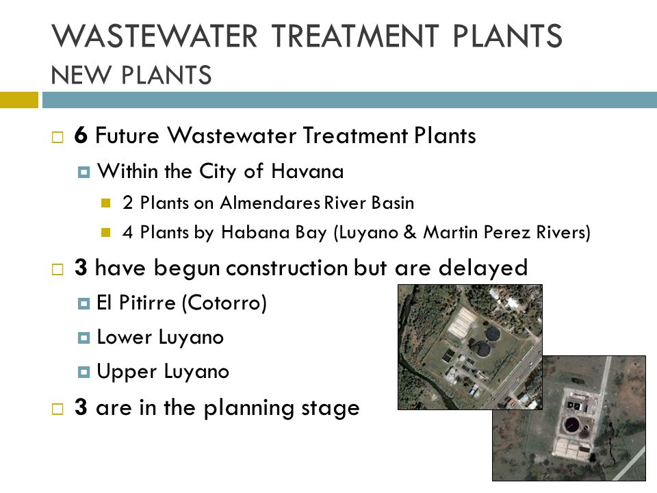 WASTEWATER TREATMENT PLANTS NEW PLANTS