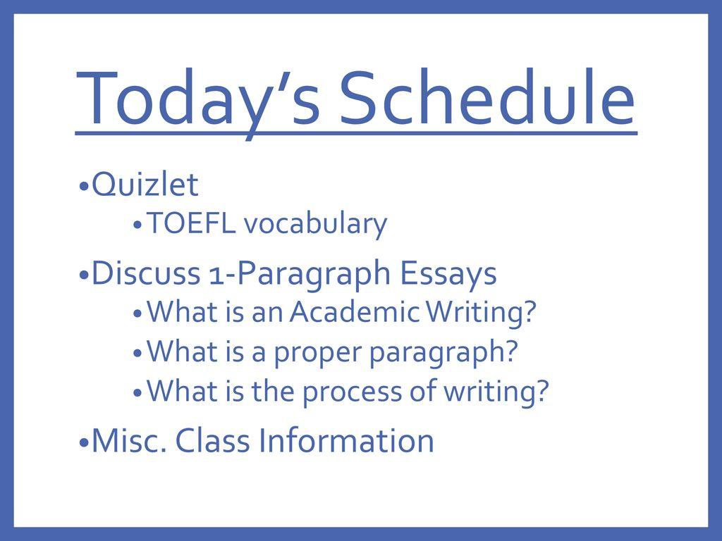 Quizlet essay vocabulary