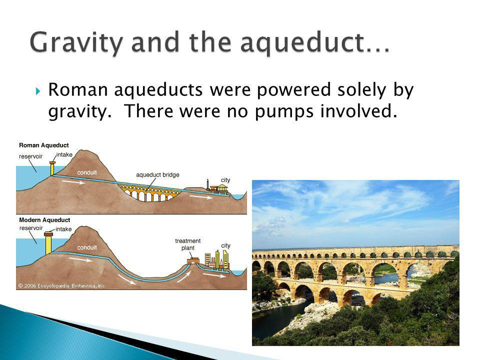 Gravity and the aqueduct…