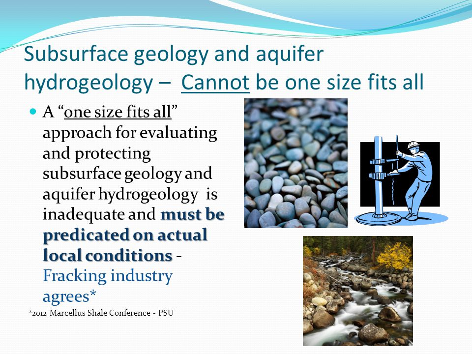 Subsurface geology and aquifer hydrogeology – Cannot be one size fits all