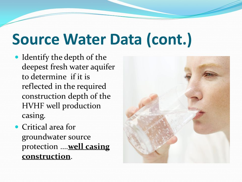 Source Water Data (cont.)