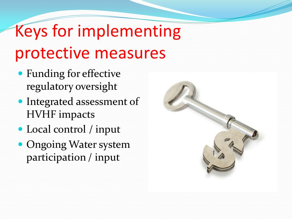 Keys for implementing protective measures