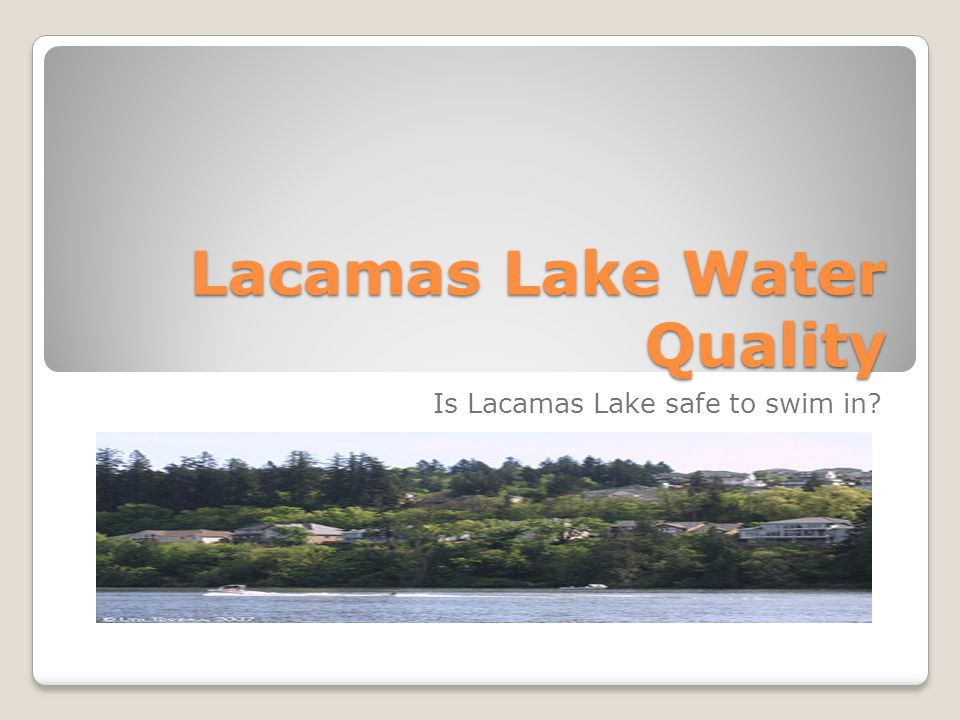 Lacamas Lake Water Quality