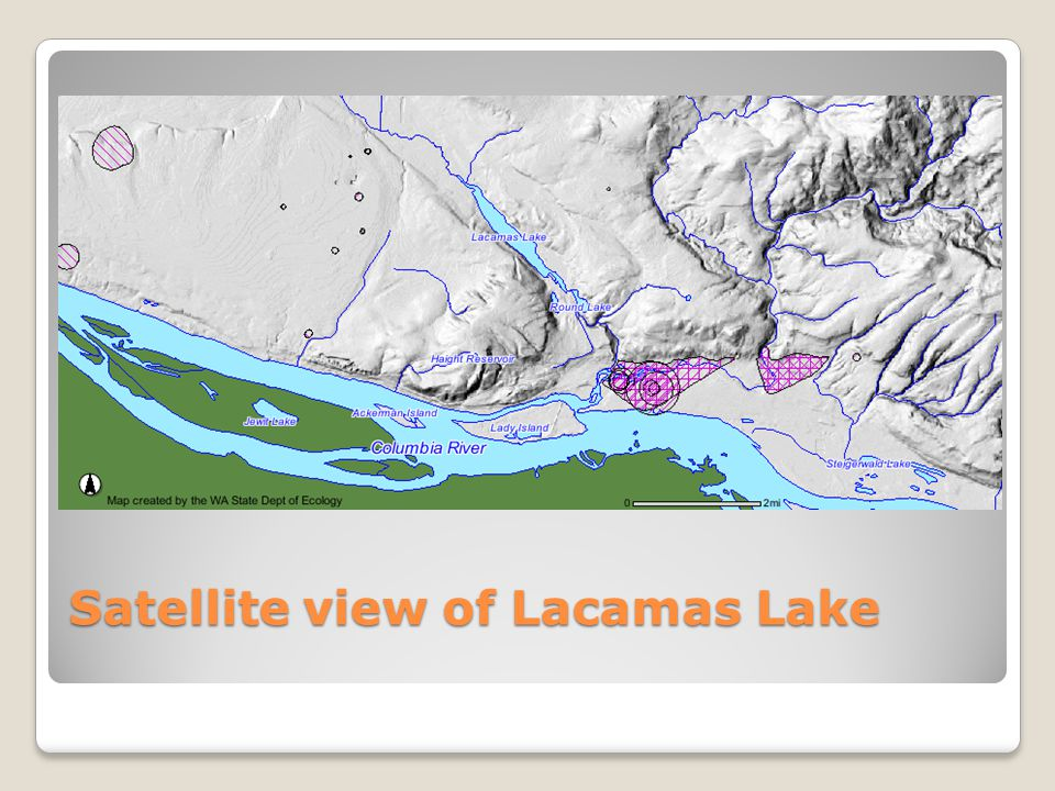 Satellite view of Lacamas Lake