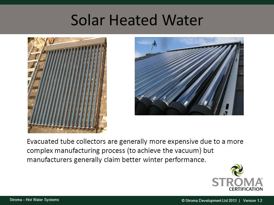 Solar Heated Water