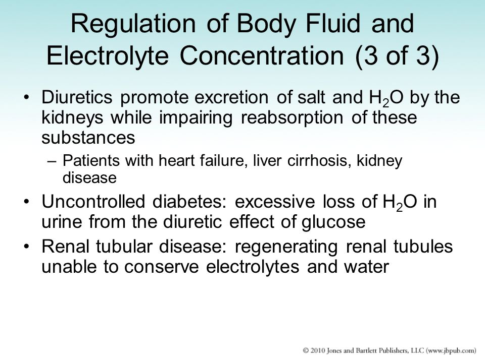Regulation of Body Fluid and Electrolyte Concentration (3 of 3)