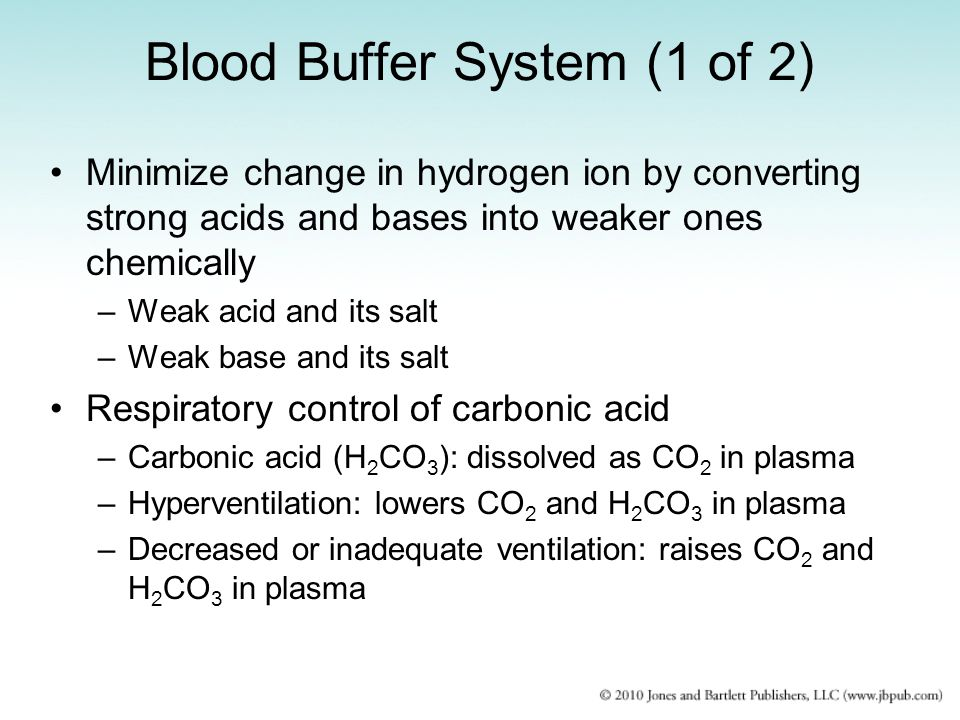 Blood Buffer System (1 of 2)