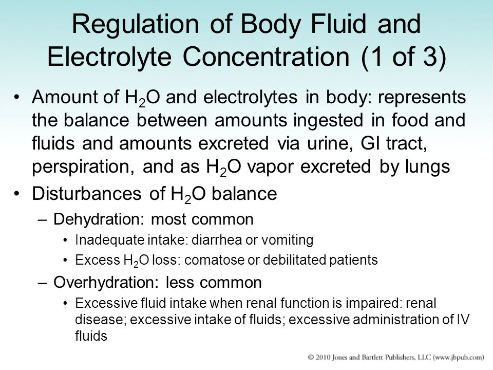 Regulation of Body Fluid and Electrolyte Concentration (1 of 3)