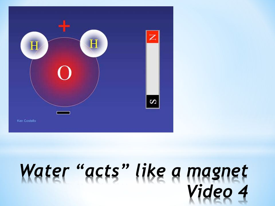 Water acts like a magnet Video 4