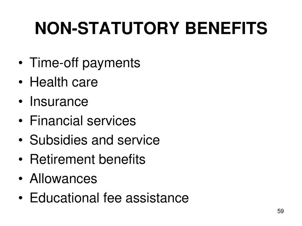 non statutory services
