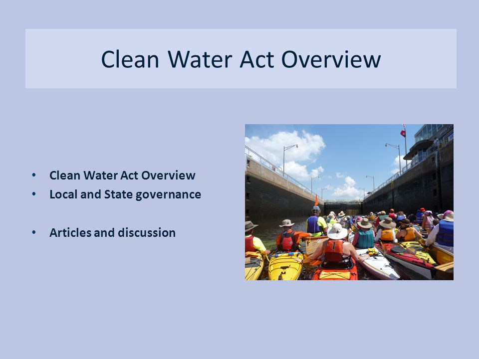 Clean Water Act Overview