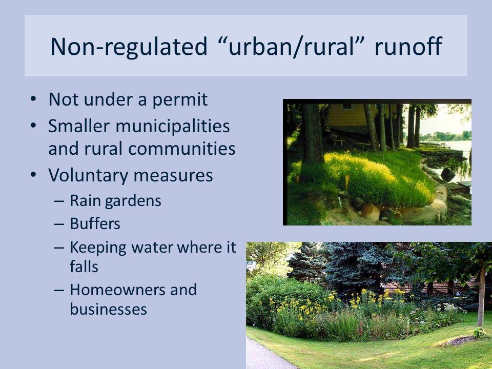 Non-regulated urban/rural runoff