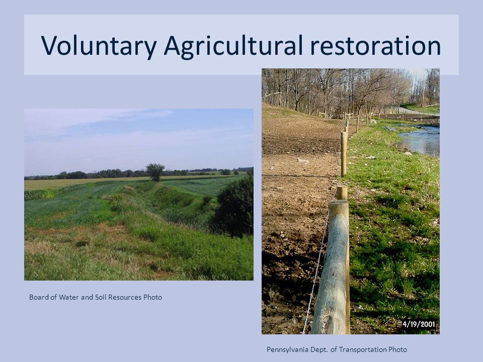 Voluntary Agricultural restoration