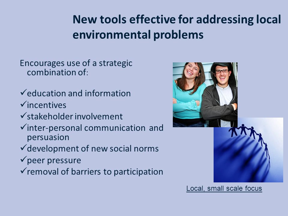 New tools effective for addressing local environmental problems